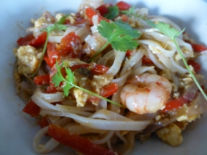 A quick Pad Thai made with packet sauce